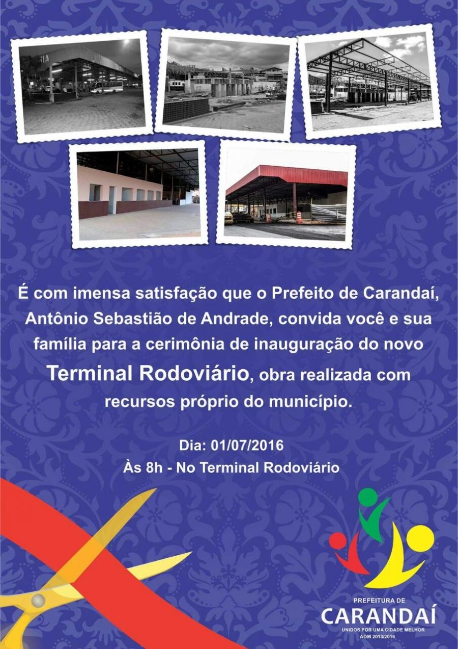 Inauguração do novo terminal rodoviário