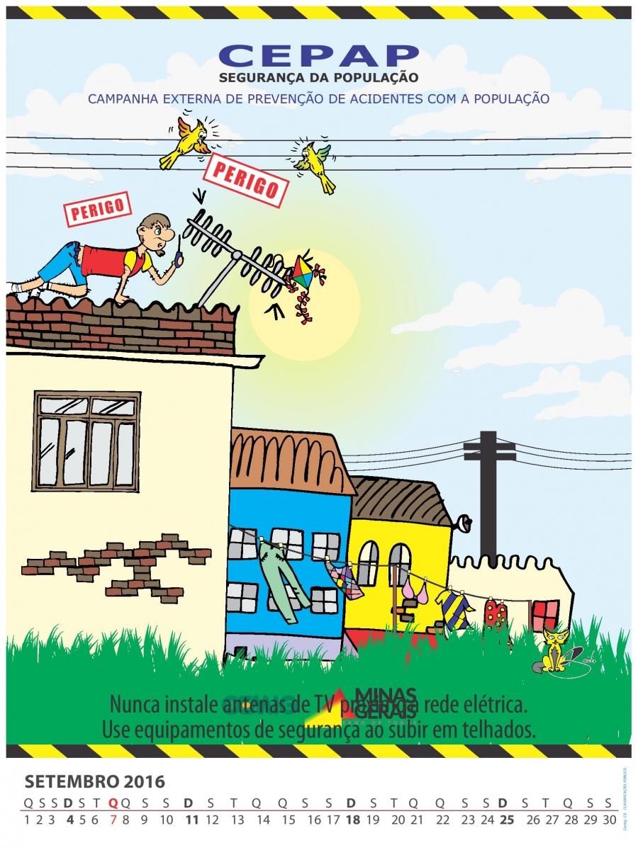 Risco de se instalar antenas de rádio e TV próximo das redes elétricas