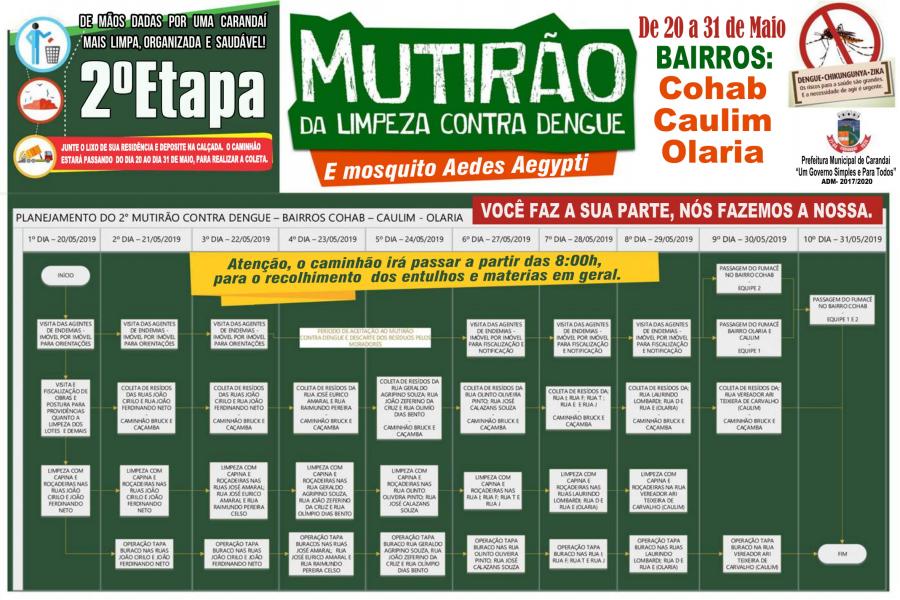 2º ETAPA DO MUTIRÃO DA LIMPEZA