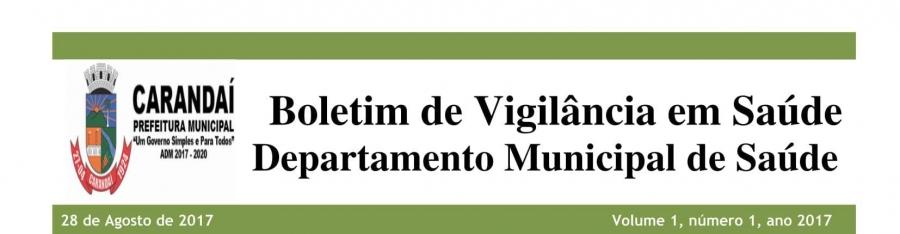 Boletim de Vigilância em Saúde Departamento Municipal de Saúde