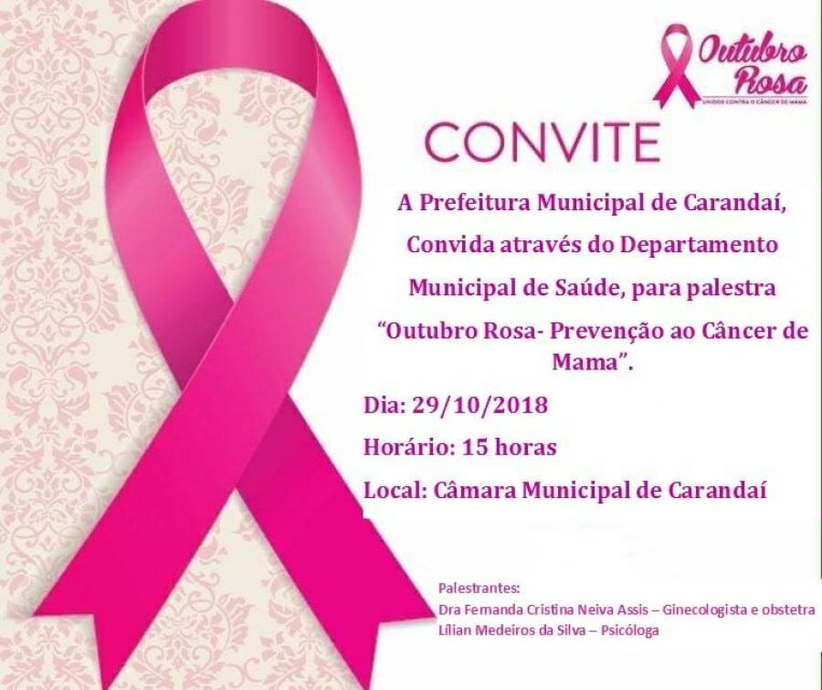 CONVITE - OUTUBRO ROSA