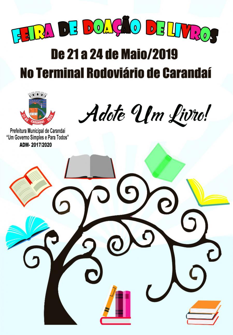 Feira de Doação de livros do Terminal Rodoviário